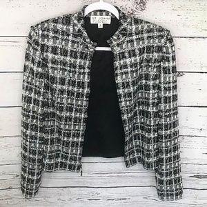 NEW St. John Evening crystal beaded jacket size 10